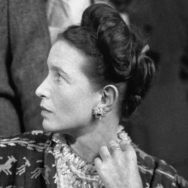 Simone de Beauvoir portrait